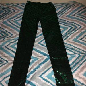 Green Mermaid Leggings.